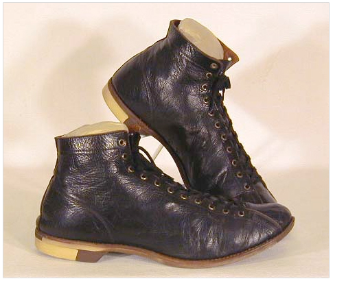 Leather Basketball Shoes. Circa 1915