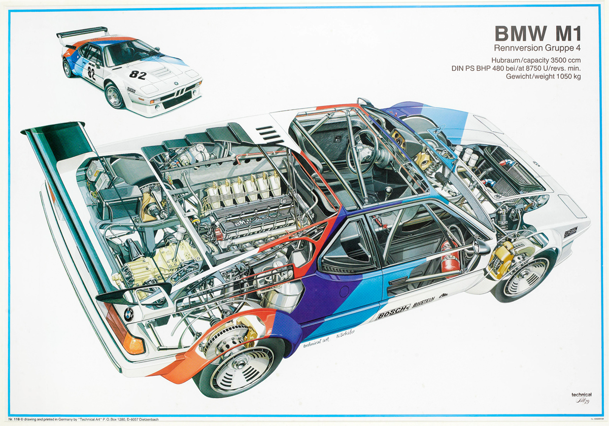 1979 Bmw M1 Pro Car Championship Factory Poster Bonhams F1 Engine Diagram
