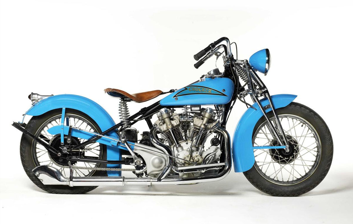 1937 crocker 61ci hem head v twin engine