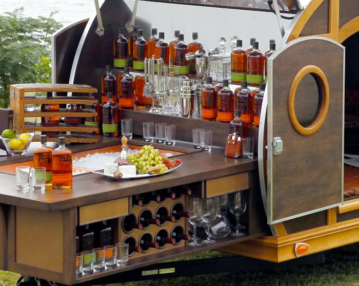 The Bulleit Frontier Whiskey Woody Tailgate Trailer